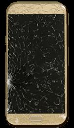 Imagem de telefone celular com a tela quebrada - Seguro para Equipamentos Portáteis